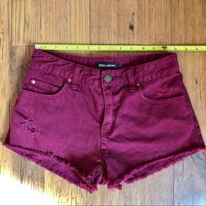 Billabong Maroon/Wine Cut Off Shorts 25